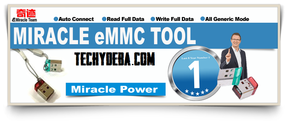 Miracle EMMC Tool Miracle Box Latest Setup V3.04 | Miracle Thunder Update